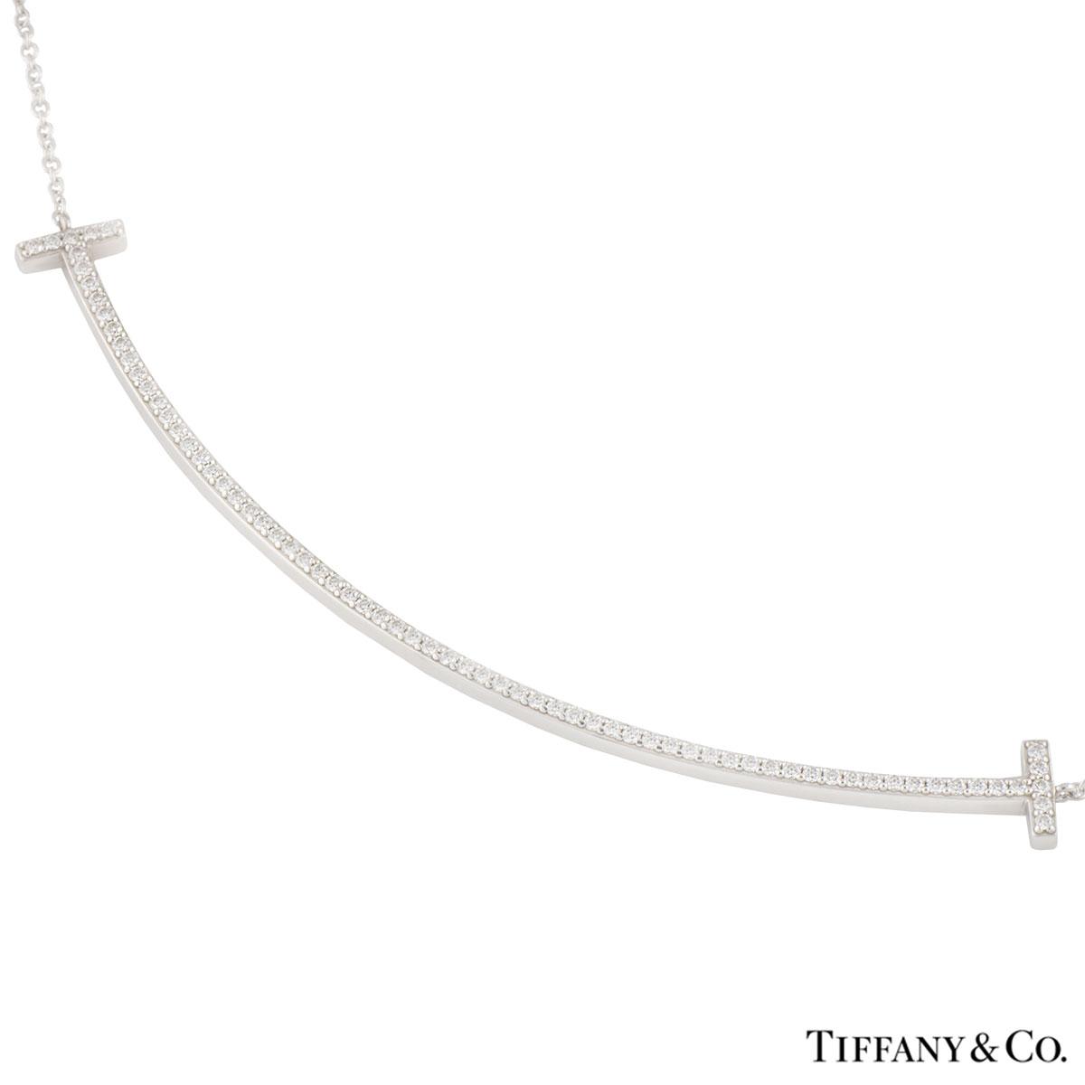 d46ba1494 White Gold Diamond T Smile Pendant · Tiffany & Co. White Gold Diamond T  Smile Pendant ...